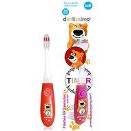 DENTISSIMO Kids Timer, červený - Dětský zubní kartáček