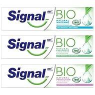 Signal BIO Natural MIX 3× zubní pasta (Whitening, Protection, Freshness) - Zubní pasta