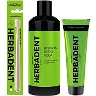 HERBADENT zubní pasta + zubní kartáček + ústní voda - Zubní pasta