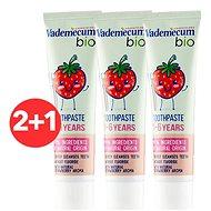 VADEMECUM Bio Kids 1-6 Jahoda 3× 50 ml - Zubní pasta