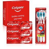 COLGATE Box Max White Luminous 3× 75ml + 3× Colgate 360