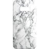 AlzaGuard - Samsung Galaxy S8 - Bílý Mramor - Kryt na mobil