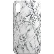 AlzaGuard - Apple iPhone X/XS - Bílý Mramor - Kryt na mobil