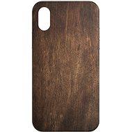 AlzaGuard - Apple iPhone X/XS - Tmavé dřevo - Kryt na mobil