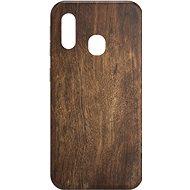 AlzaGuard - Samsung Galaxy A20e - Tmavé dřevo - Kryt na mobil