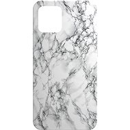 AlzaGuard - Apple iPhone 12 / 12 Pro -Bílý Mramor - Kryt na mobil