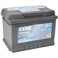 EXIDE Premium 61Ah, 12V, EA612 - Car Battery