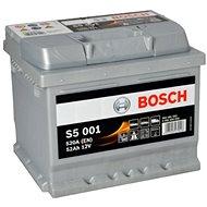 BOSCH S5 001, 52Ah, 12V (0 092 S50 010) - Car Battery