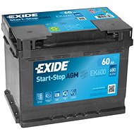 EXIDE START-STOP AGM 60Ah, 12V, EK600 - Car Battery