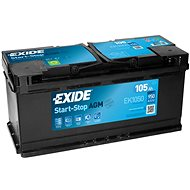 EXIDE START-STOP AGM 105Ah, 12V, EK1050 - Car Battery