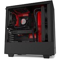 NZXT H510i Matte Black Red - Počítačová skříň