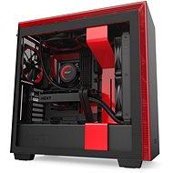 NZXT H710 Matte Black Red - Počítačová skříň