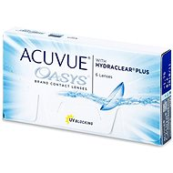Acuvue Oasys with Hydraclear Plus (6 lenses) diopter: -2.50, base curve: 8.40 - Contact Lenses