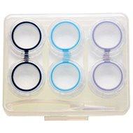 Pouzdro na kontaktní čočky Kaida pouzdro sestava průhledná - 3 ks