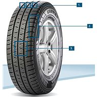 Pirelli CARRIER WINTER 195/75 R16 110 R zimní - Zimní pneu