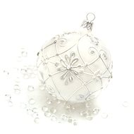 HAN Design Ball 8 cm painted - Christmas decorations
