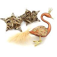 HAN Design Labuť s korunkou malovaná - Vánoční ozdoby