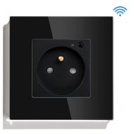 iQtech SmartLife JW04-BK, chytrá Wi-Fi zásuvka s kolíkem, 16 A, měření spotřeby, černá - Chytrá zásuvka
