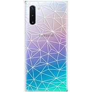 iSaprio Abstract Triangles 03 - white pro Samsung Galaxy Note 10 - Kryt na mobil