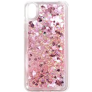 iWill Glitter Liquid Heart Case pro HUAWEI Y5 (2019) / Honor 8S Pink - Kryt na mobil