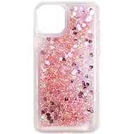 iWill Glitter Liquid Heart Case pro Apple iPhone 11 Pro Pink - Kryt na mobil