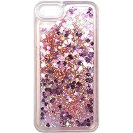Kryt na mobil iWill Glitter Liquid Heart Case pro Apple iPhone 7 / 8 / SE 2020 Pink