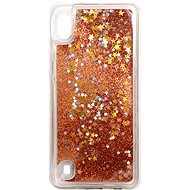 Kryt na mobil iWill Glitter Liquid Star Case pro Samsung Galaxy A10 Rose Gold