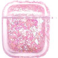 iWill PC Protective Liquid Floating Glitter Apple Airpods Case Heart Pink - Pouzdro na sluchátka