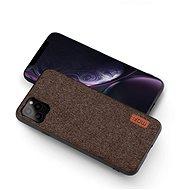 MoFi Fabric Back Cover iPhone 11 Pro Hnědé - Kryt na mobil