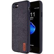 MoFi Fabric Back Cover iPhone 7 / 8 / SE 2020 Černé - Kryt na mobil