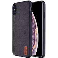 MoFi Fabric Back Cover iPhone X / Xs Černé - Kryt na mobil