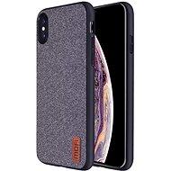 MoFi Fabric Back Cover iPhone X / Xs Šedé - Kryt na mobil