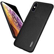 MoFi Litchi PU Leather Case for iPhone Xr Black - Mobile Case