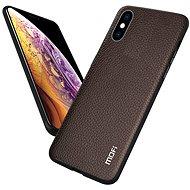MoFi Litchi PU Leather Case iPhone X / XS Hnědé - Kryt na mobil