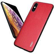 MoFi Litchi PU Leather Case iPhone X / XS Červené - Kryt na mobil