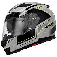 CASSIDA Apex Fusion (šedá/černá/žlutá fluorescentní, vel. M) - Helma na motorku