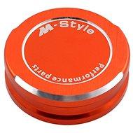 M-Style víčko nádobky brzdové kapaliny - oranžové - Víčko nádobky brzdové kapaliny