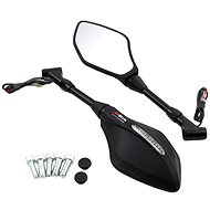 M-Style Optic mirrors with integrated LED flashlights - Rearview Mirror