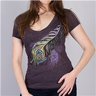 Hot Leathers Peacock Feather - Motorcycle t-shirt