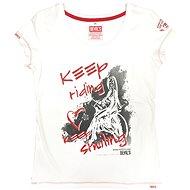 Devil's Keep riding keep smiling white - Moto triko