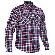 OXFORD Shirt KICKBACK CHECKER with Kevlar® Lining Red/Blue - Motorcycle jacket