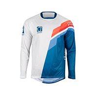 YOKO VIILEE bílá / modrá / oranžová  - Motokrosový dres