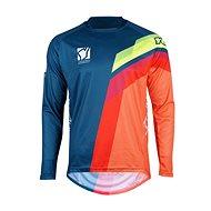 YOKO VIILEE modrá / oranžová / žlutá  - Motokrosový dres