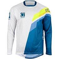 YOKO VIILEE bílá / modrá / žlutá  - Motokrosový dres