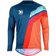 YOKO VIILEE modrá / oranžová / modrá  - Motokrosový dres