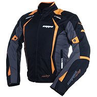Cappa Racing AREZZO textilní černá/oranžová - Bunda na motorku