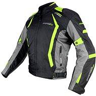 Cappa Racing AREZZO textilní černá/zelená - Bunda na motorku
