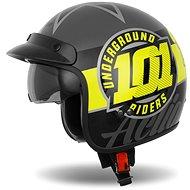 CASSIDA Oxygen 101 Riders,  (žlutá fluo/černá/stříbrná metalická) - Helma na motorku