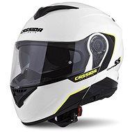 CASSIDA Compress 2.0 Refraction,  (bílá/černá/žlutá fluo) - Helma na motorku
