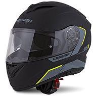 CASSIDA Compress 2.0 Refraction,  (černá matná/šedá/žlutá fluo) - Helma na motorku
